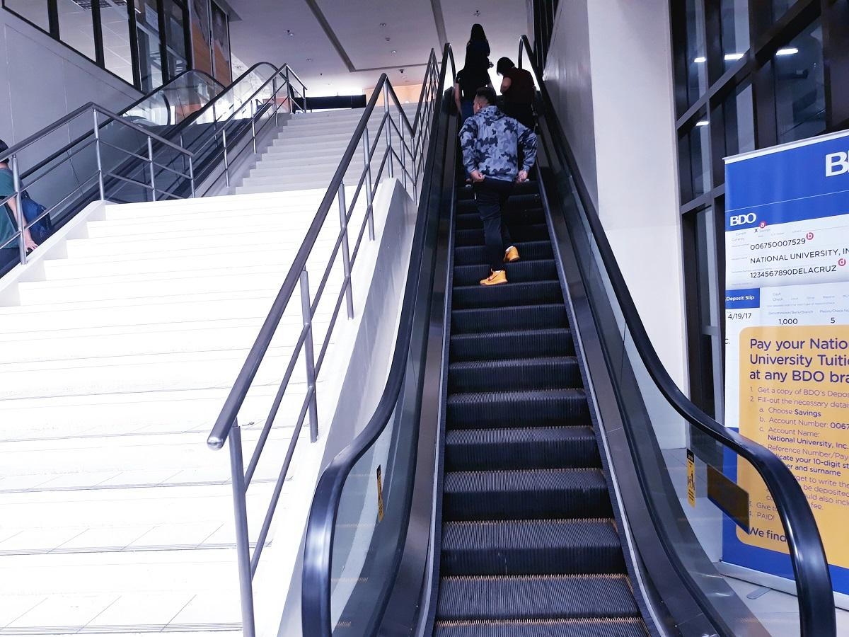 National University escalator